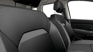 Cloth upholstery in graphite colour